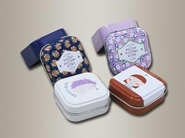 化妆品铁盒-化妆品铁盒定制48*48*23mm