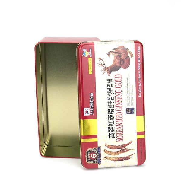 高丽红参精铁盒定做,人参铁盒包装厂