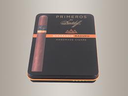 雪茄铁盒包装,高档香烟盒114*88*15mm