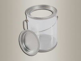 PVC大米铁桶,透明PVC大米铁桶大米D64x80mm